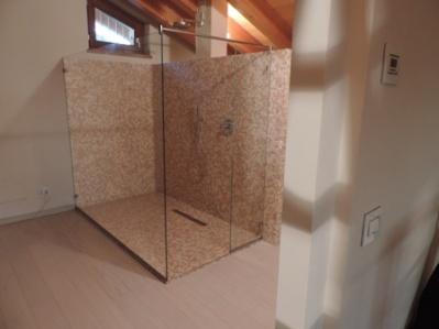 Costruire Una Cabina Doccia.Cabina Doccia Solo Vetro Fisso Fatto Vetraria Gelfi Bergamo