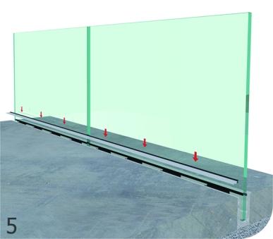 vetro interrato a filo pavimento