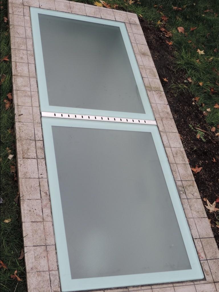 lastre di vetro pedonabile antiscivolo ultimato