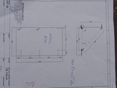 disegno della tettoia in vetro