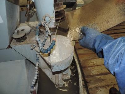 arrotondamento degli spigoli del vetro ceramico esistente