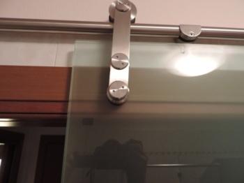 Eleganza della ferramenta a vista della porta in vetro scorrevole esterno muro
