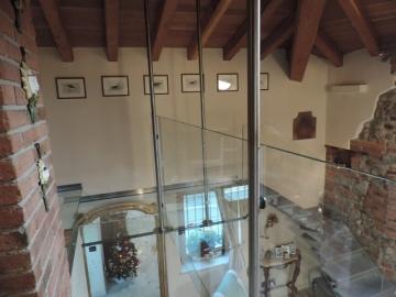 balaustra in vetro per balcone in vetro