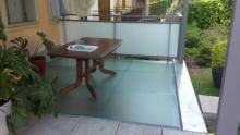 sostituzione pavimento in grate in ferro con vetro
