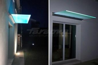 ingresso iluminato con ili vetroled