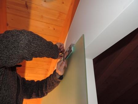 resistrazione pinze con vetro appooggiato in sede