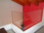 balaustra di soppalco in vetro