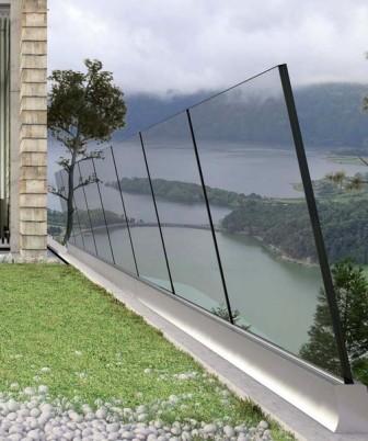 barriera antivento in vetro