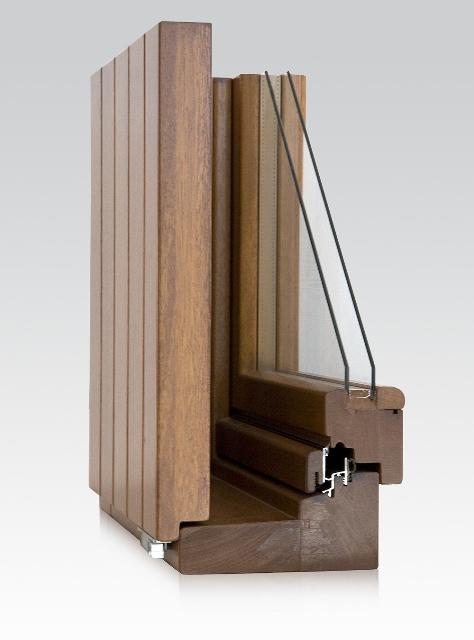sezione del monoblocco in legno