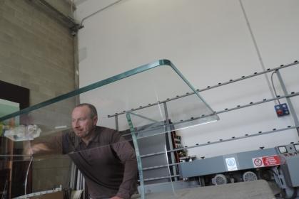 costruzione tavolino in vetro saldato