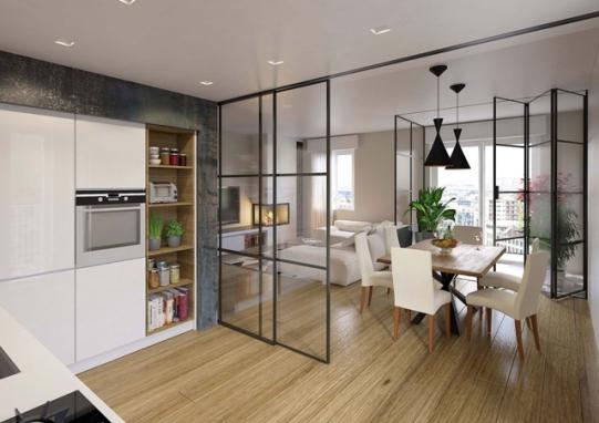 Parete divisoria mobile in vetro alluminio vetraria gelfi bergamo - Finestre stile americano ...