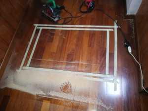 pronti per il taglio del soppalco in legno